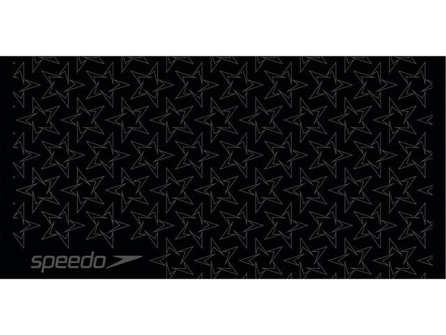 speedo Boomstar Allover Towel jet black/oxid grey